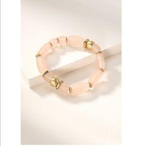 Stella & Dot Brix bracelet. Blush OS